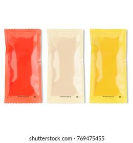 Sauce packagings mockup
