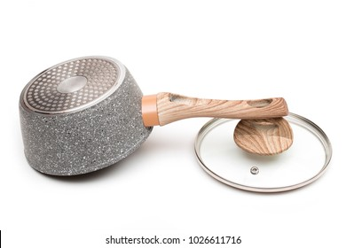 saucepan on the white background