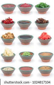 Sauces set isolated on white background.