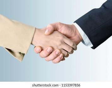 Saudi Arab Businessmen Hands Shaking