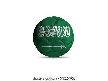 saudi arabia ball ,High quality render of 3D football ball 3D rendering.