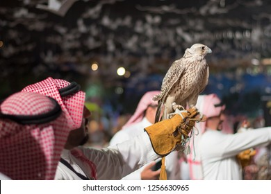 Saudi Arabia Falcon. Traditional Arabic Culture.