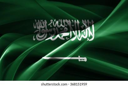 Saudi Arabia flag of silk
