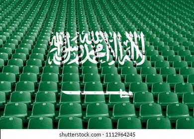 Saudi Arabia flag stadium seats