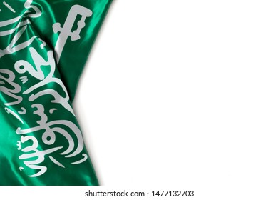 Saudi Arabia flag with, use it for national day and country national occasions