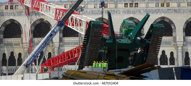 "SAUDI ARABIA / MECCA -13 September 2015 Crane Accident The crane accident took place during the reconstruction of ""Kaaba"" where almost 2.500 people lost their lives. Kaaba is the hadj place of muslims"