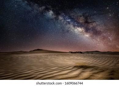 Saudi Arabia Milky Way at desert
