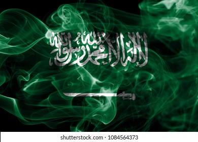 Saudi Arabia smoke flag