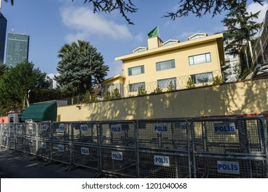 Saudi Arabia's consulate in Istanbul, Friday, Oct. 12, 2018.