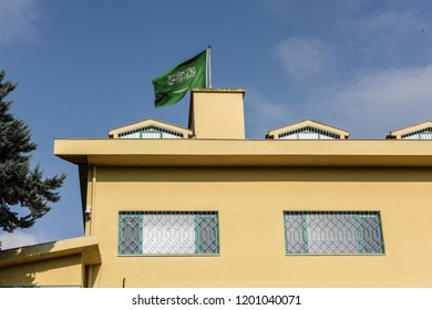 Saudi Arabia's consulate in Istanbul, Friday, Oct. 12, 2018.