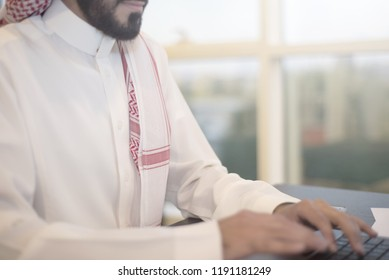 Saudi Business, Hands Signing a document, contract, Businessmen, Saudi Arabia Company, Meeting, Working on a Laptop, Gulf Work, Desk job, using computer