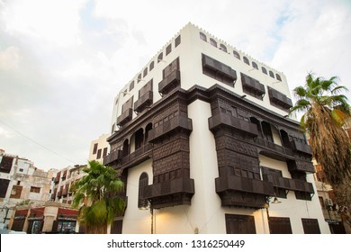 Saudi Jeddah February 16 2019 Old city in Jeddah Old city in Jeddah Saudi Arabia known as Historical Jeddah. Street view in  Balad Saudi Arabia 16-02-2019