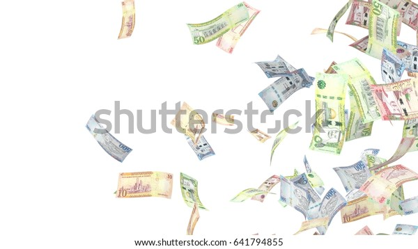 Saudi Riyal money background, ten, fifty, one hundred, and five hundred bills.