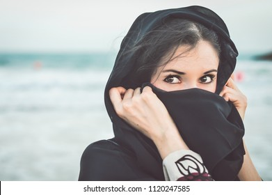Saudi woman wearing hijab