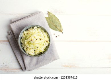 Sauerkraut is fermented cabbage. Typical fermented food in some countries such as Russia. Poland or German. It is the main ingredient of bigos