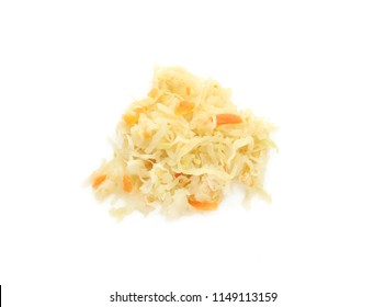 sauerkraut, pickled cabbage, sour cabbage. white background