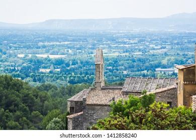 Saumane de Vaucluse, France - June 15, 2018. Small village in Provence in southeastern France, boyhood home of Marquis de Sade