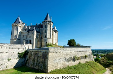 Saumur castle, Loire Valley, France. Saumur Castle was built in the tenth century and rebuilt in the late twelfth century.