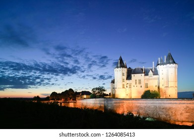 Saumur Maine-et-loire Pays de la Loire France 15th September 2015 Chateau de Saumur at twilight