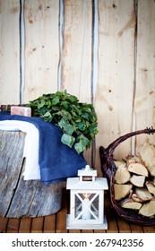 Sauna Accessories: towel, soap and vihta