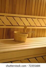 sauna interior detail