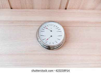 sauna and relaxation, clock
