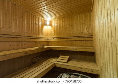 Sauna room interior background.