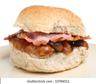 Sausage and bacon roll