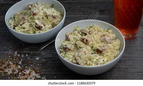 Sausage coleslaw salad