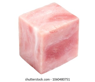 Sausage ham marbled cube, clipping path