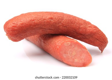 Sausage isolated on white background