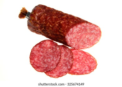 Sausage it is isolated on a white background