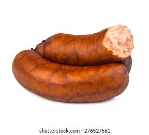 sausage on white background