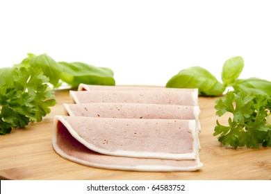 Sausage plate with herbs