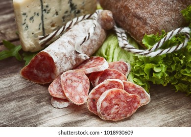 Sausage salami with noble mold