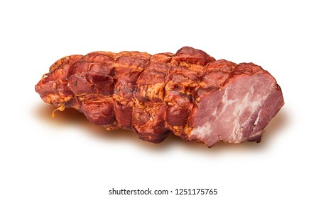 Sausage,bacon, ham. Food. Meat products. Image on a white background.