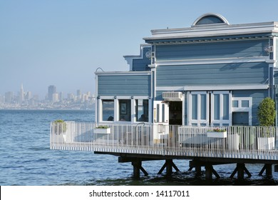 SAUSALITO BAY AND SAN FRANCISCO view of San Francisco across the bay