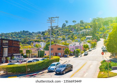 Sausalito, California, USA - September 10, 2018: Sausalito is a city in Marin County, California, 4 miles north of San Francisco.