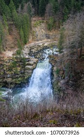 Saut du doubs biggest waterfall in the region of doubs border france switzerland