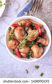 Sauteed Mushroom with vegetabels. Keto recipe mushrooms.