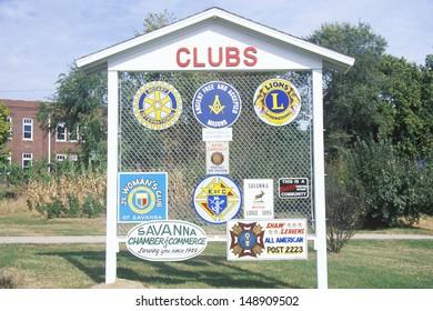 SAVANNA, GEORGIA - CIRCA 1980's: Various club signs in Savanna, GA