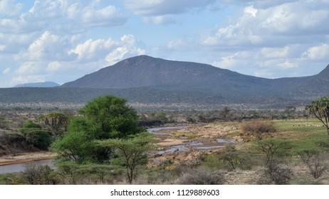 Savanna landscape in Shaba Game Reserve, Samburu