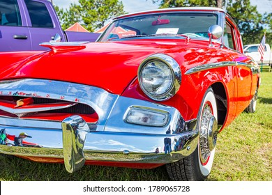 Savannah, GA / USA - April 21, 2018: 1955 Studebaker Commander at a car show in Savannah, Georgia.