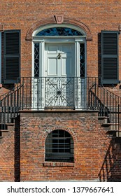 Savannah, GA, USA - February 24 2011: The Isaiah Davenport House was built in the Federal Style in  1821 by New England builder Davenport, as a home for his large family