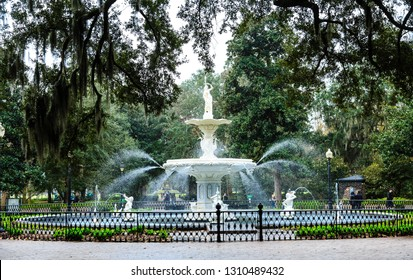 SAVANNAH, GEORGIA - January 9, 2016: Savannah is the oldest city in Georgia. From the historic architecture and parks to the beaches of Tybee, Savannah attracts millions of visitors annually.