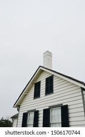 Savannah, Georgia, USA - 2/10/19: Tybee Island lighthouse keeper's cottage