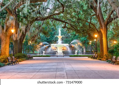 Savannah, Georgia, USA at Forsyth Park.