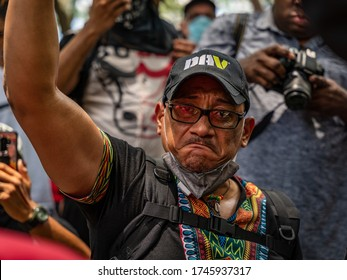SAVANNAH, GEORGIA / USA - May 31, 2020: Scenes from the Black Lives Matter protest over the death of George Floyd.