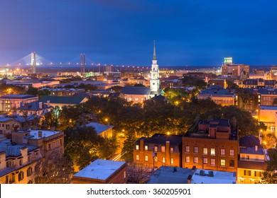 Savannah, Georgia, USA Skyline.