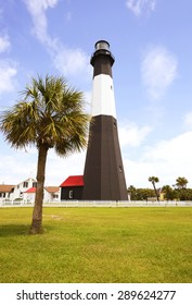 SAVANNAH - May 9: Tybee island lighthouse on May 9, 2015 in Savannah, Georgia, United States. Tybee Island Light is one of seven surviving colonial era lighthouse towers.